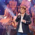 Exclusif - Claude Barzotti à l'enregistrement de l'émission  Les Années Bonheur  à La Plaine Saint-Denis le 24 mars 2015. Emission diffusée le 2 mai 2015.