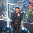 Exclusif - Klaus Meine du groupe Scorpions à l'enregistrement de l'émission  Les Années Bonheur  à La Plaine Saint-Denis le 24 mars 2015. Emission diffusée le 2 mai 2015.