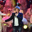 Exclusif - Sabine Paturel à l'enregistrement de l'émission  Les Années Bonheur  à La Plaine Saint-Denis le 24 mars 2015. Emission diffusée le 2 mai 2015.