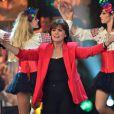 Exclusif - Linda de Suza à l'enregistrement de l'émission  Les Années Bonheur  à La Plaine Saint-Denis le 24 mars 2015. Emission diffusée le 2 mai 2015.