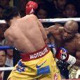 Combat entre Floyd Mayweather et Manny Pacquiao à Las Vegas, le 2 mai 2015.