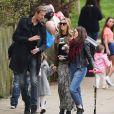 Abbey Clancy était de sortie avec son époux Peter Crouch et leur petite Sophia à la Hampstead Heath Fair de Londres, le 5 avril 2015