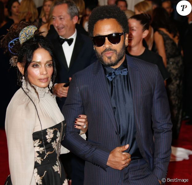 Lisa Bonet and Lenny Kravitz - Soirée Costume Institute Gala 2015 (Met Ball) au Metropolitan Museum, célébrant l'ouverture de Chine: à travers le miroir à New York. Le 4 mai 2015.