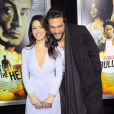 "Sarah Shahi, Jason Momoa - Premiere du film ""Bullet To The Head"" (""Du Plomb dans la Tete"") a New York, le 29 janvier 2013"