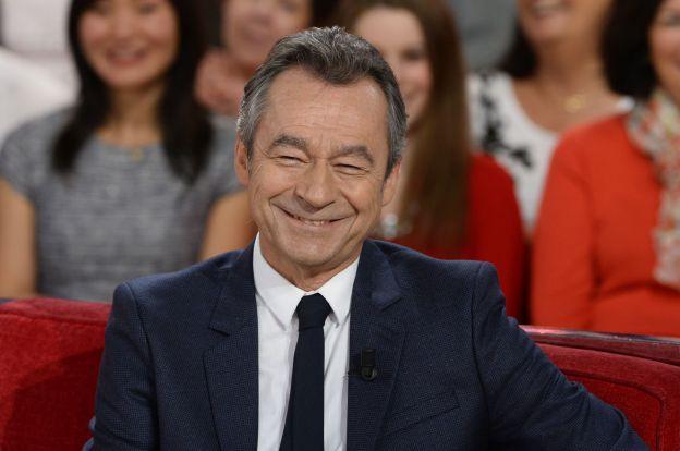"""Michel Denisot - Enregistrement de l'émission """"Vivement dimanche"""" à Paris le 29 octobre 2014. L'émission sera diffusée le 2 novembre."""