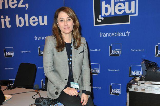 Daniela Lumbroso à radio France Bleu au salon international de l'agriculture de la Porte de Versailles à Paris le 26 février 2015.