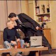 Michel et Davy Sardou lors du filage de Secret de Famille, au théâtre des Variétés