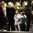 """Madalina Ghenea, Michael Caine, Paolo Sorrentino - Tournage du film """"Youth"""" à Venise en Italie le 3 juillet 2014."""