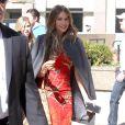 """Sofia Vergara quitte les studios de l'émission TV """"The Elle DeGeneres Show"""" à New York. Le 4 mai 2015"""