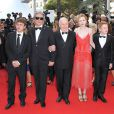 Vincent Rottiers, Gilles Bourdos, Michel Bouquet, Christa Theret, Thomas Doret, au Festival de Cannes pour le film Renoir le 26 mai 2012