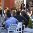 Exclusive - Eva Longoria et Amauri Nolasco ont assisté au baptême du fils d'un couple d'amis avant d'aller faire la fête dans les arènes de Cordoue. Mai 2015