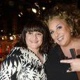 """Lisa Angell et Marianne James - Enregistrement de l'émission """"Vivement Dimanche"""" consacrée à Charlotte de Turckheim à Paris le 13 mai 2015. L'émission sera diffusée le 17 mai à 14h10 sur France 2."""