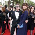 """Philippe Manoeuvre et sa femme Candice de la Richardière - Montée des marches du film """"Mad Max : Fury Road"""" lors du 68 ème Festival International du Film de Cannes, à Cannes le 14 mai 2015."""
