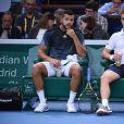 Richard Gasquet et Jo-Wilfried Tsonga au Masters 1000 de Paris, le 28 octobre 2014