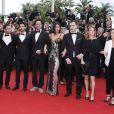 """Swann Arlaud, Sarah Le Picard, Guillaume Gouix, Tahar Rahim, Elie Wajeman, Adèle Exarchopoulos, Emilie de Preissac - Montée des marches du film """"Irrational Man"""" (L'homme irrationnel) lors du 68e Festival International du Film de Cannes, à Cannes le 15 mai 2015."""