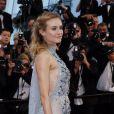"""Diane Kruger (robe Prada) - Montée des marches du film """"Maryland"""" lors du 68e Festival International du Film de Cannes, le 16 mai 2015."""