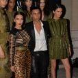 """Kim Kardashian, Olivier Rousteing et Kendall Jenner - Gala """"Vogue Paris Foundation"""" au Palais Galliera à Paris le 9 juillet 2014."""