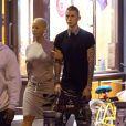 Exclusif - Amber Rose et le rappeur Machine Gun Kelly à New York, le 10 mai 2015.