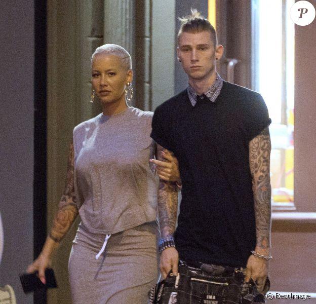 Exclusif - Machine Gun Kelly et Amber Rose à New York, le 10 mai 2015.
