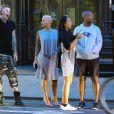 Exclusif - Amber Rose, le rappeur Machine Gun Kelly et un couple d'amis, de sortie à New York, le 10 mai 2015.