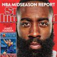 Le basketteur James Harden (Houston Rockets) en couverture du magazine Sports Illustrated. Février 2015.