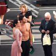 Rumer Willis et Val Chmerkovskiy lors de la première partie de la finale de Dancing With The Stars, le 18 mai 2015