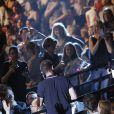 Concert des 60 ans d'Europe 1 au Zénith de Paris. Le 21 mai 2015. Le show diffusé en direct sur D8 était présenté par Cyril Hanouna.