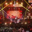 Exclusif - Kendji Girac - Concert des 60 ans d'Europe 1 au Zénith de Paris. Le 21 mai 2015. Le show diffusé en direct sur D8 était présenté par Cyril Hanouna.