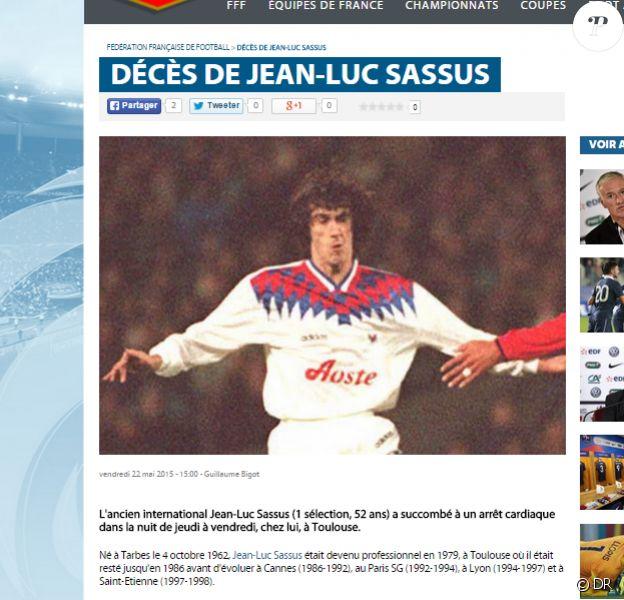 La FFF annonce la mort de Jean-Luc Sassus, décédé à 52 ans dans la nuit du 21 au 22 mai 2015