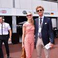 Pierre Casiraghi et sa fiancée Beatrice Borromeo au Grand Prix de Monaco le 23 mai 2015