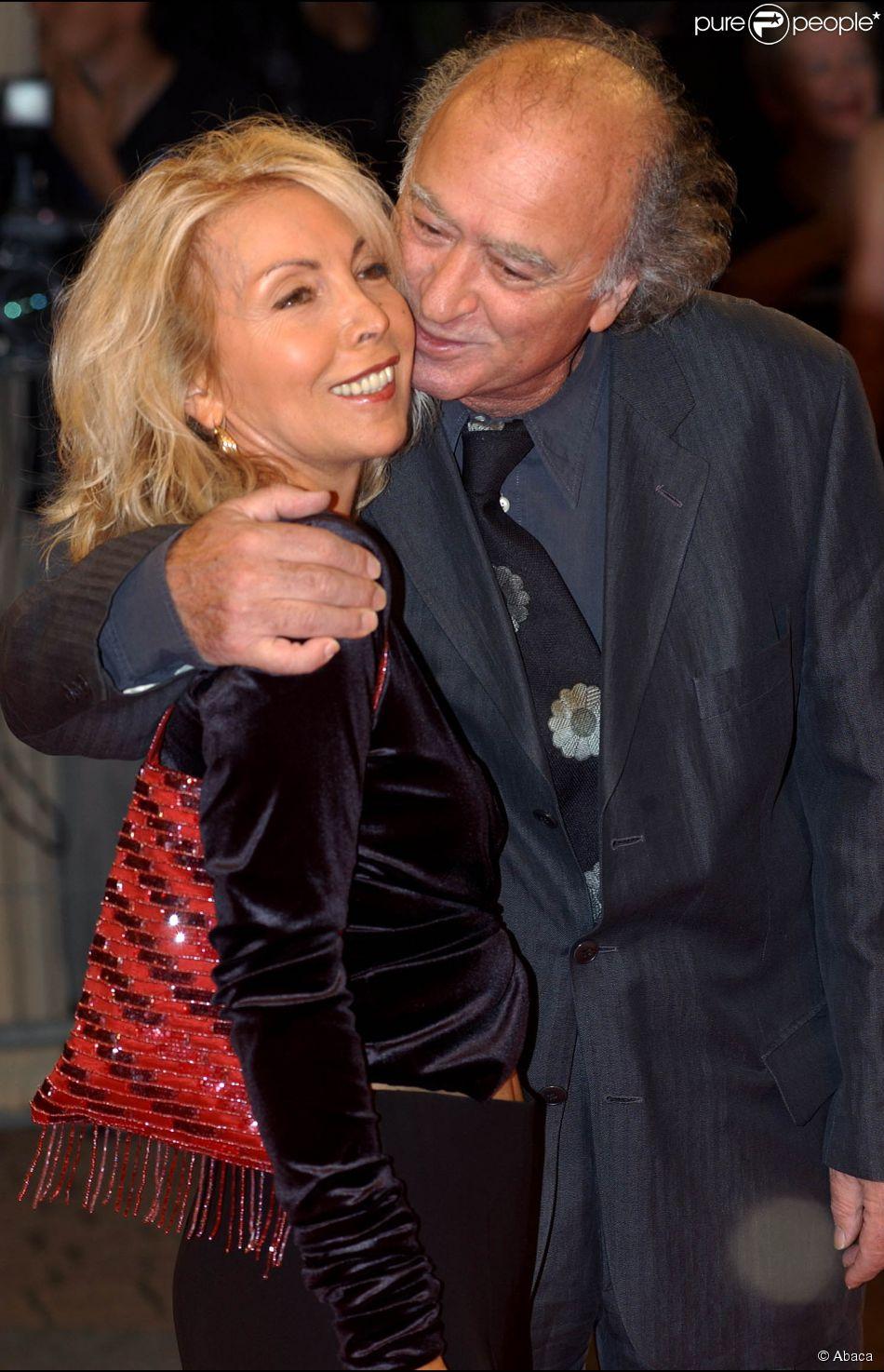 Georges Wolinski et son épouse Maryse au Festival du film américain de Deauville le 30 août 2002