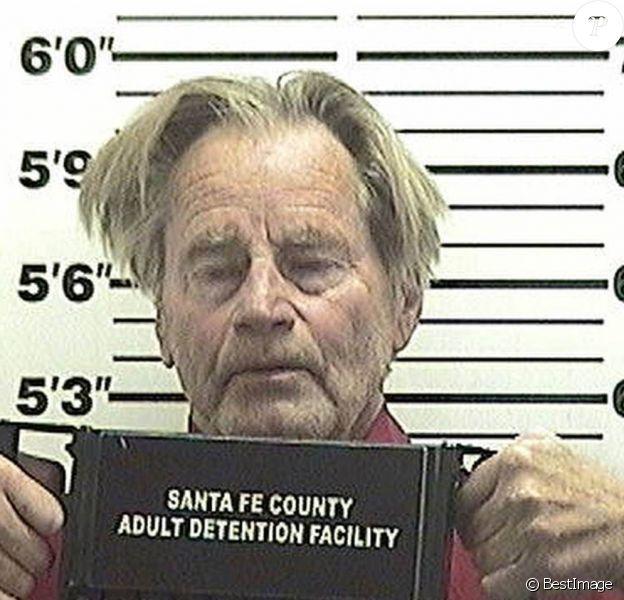 Mugshot de Sam Shepard, arrêté pour conduite en état d'ivresse à Santa Fe au Nouveau Mexique. Le 25 mai 2015.