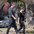 Exclusif - Ben Affleck et sa femme Jennifer Garner vont déjeuner au restaurant à Brentwood, malgré les rumeurs de séparation du couple, le 28 mai 2015.