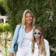 Natty Belmondo et sa fille Stella Belmondo - People au village des Internationaux de France de tennis de Roland-Garros à Paris le 30 mai 2015