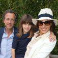 Stephane Freiss avec sa femme Ursula et leur fille Bianca - People au village des Internationaux de France de tennis de Roland-Garros à Paris le 30 mai 2015