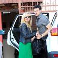Nastia Liukin quitte les studios de Dancing With The Stars à Los Angeles, le 3 mai 2015