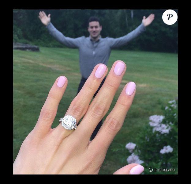 Nastia Liukin et son futur mari Matt Lombardi, sur Instagram le 2 juin 2015
