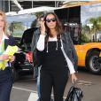 Leona Lewis arrive à l'aéroport de Nice, le 17 mai 2015