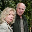 Georges Wolinski et sa femme à Roland Garros en 2005.