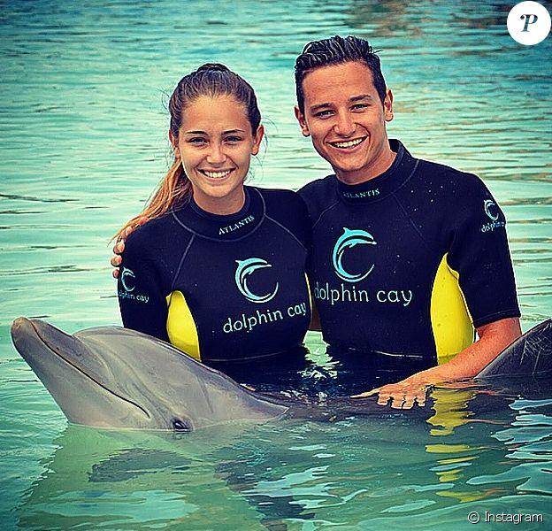 Florian Thauvin et sa compagne Charlotte Pirroni en vacances aux Bahamas - juin 2015