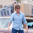 Tom Cruise tourne le film Mena où il s'est avéré proche de son assistante Emily, laquelle ressemble étrangement à Katie Holmes. Jasper, GA, le 4 juil 2015.