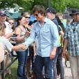 """Tom Cruise sur le tournage du film """"Mena"""" à Atlanta, le 21 mai 2015."""