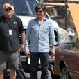 """Tom Cruise sur le tournage du film """"Mena"""" à Atlanta, le 21 mai 2015"""