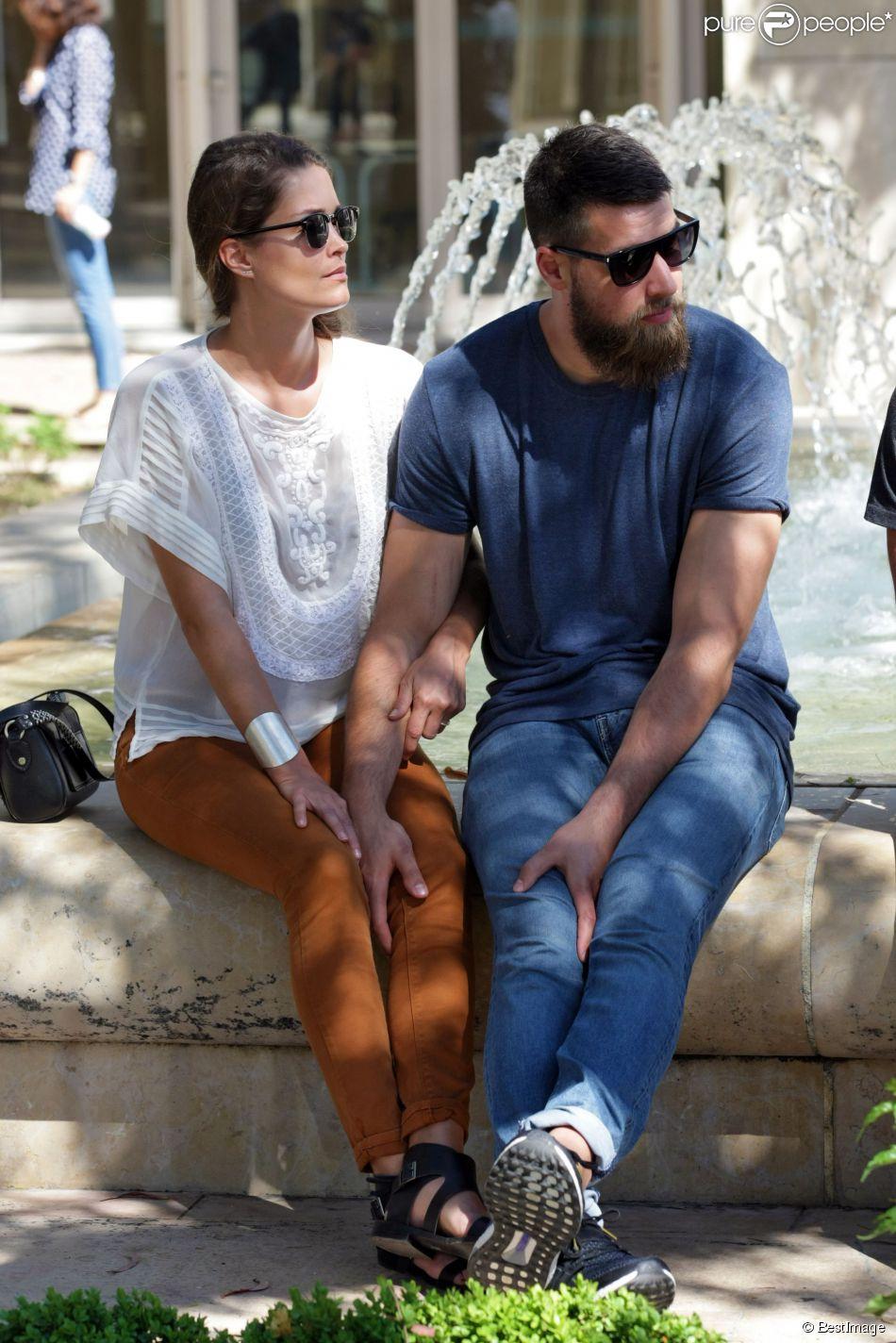 Luka Karabatic et sa compagne Jennifer Priez au tribunal correctionnel de Montpellier le 15 juin 2015