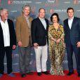""""""" Ron Pearlman, Patrick Duffy, le prince Albert II de Monaco, Bianca Jagger et Eric Close - Soirée anniversaire du 55ème festival de télévision de Monte-Carlo à Monaco. Le 16 juin 2015 """""""