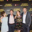 """Lola Le Lann, François Cluzet, Alice Isaaz et Vincent Cassel - Avant-première du film """"Un moment d'égarement"""" au Gaumont Opéra à Paris, le 17 juin 2015."""