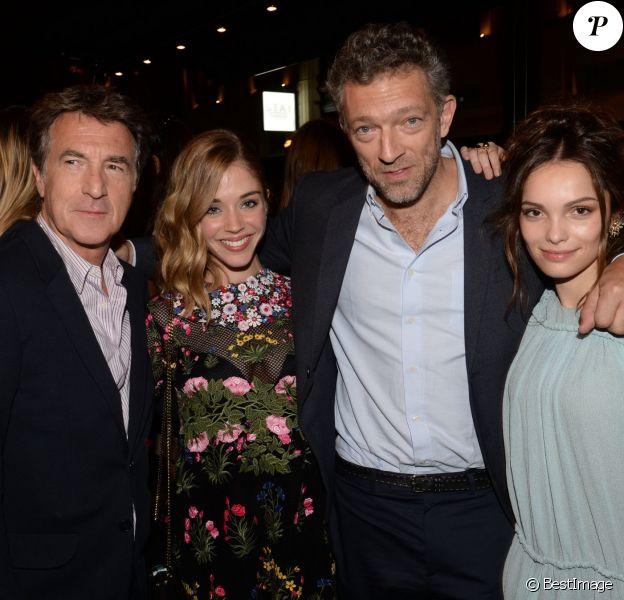 """Exclusif - François Cluzet, Alice Isaaz, Vincent Cassel, Lola Le Lann - After party du film """"Un moment d'égarement"""" au Buddha-Bar à Paris, le 17 juin 2015"""