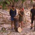 Sébastien et Chantal, victorieux de l'épreuve de confort, dans  Koh-Lanta 2015  (épisode 9) sur TF1, le vendredi 19 juin 2015.