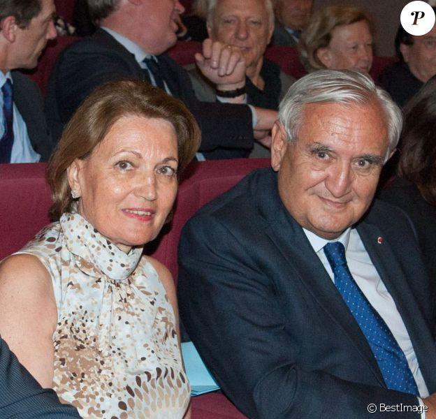 Exclusif - Jean-Marie Le Guen, Anne Marie Raffarin et Jean-Pierre Raffarin, lors de la projection du documentaire Jean-Pierre Raffarin : l'autre force tranquille (par Cyril Viguier) à l'hôtel de Clermont, Paris le 15 juin 2015.