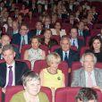 Exclusif - Jean-Marie Le Guen, Anne-Marie Raffarin et Jean-Pierre Raffarin, lors de la projection du documentaire  Jean-Pierre Raffarin : l'autre force tranquille  (par Cyril Viguier) à l'hôtel de Clermont, Paris le 15 juin 2015.